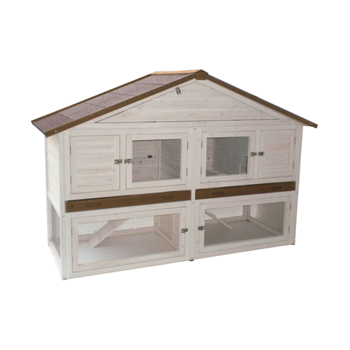 OUTDOOR CAGE WOOD CHALET XL WHITE/BROWN