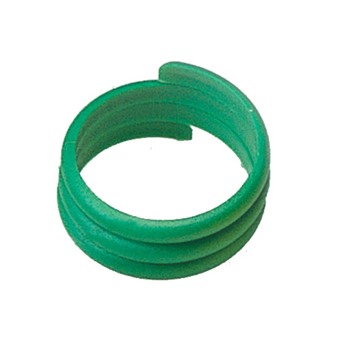 100 PLASTIC BIRD RINGS 18 MM GREEN